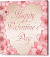 Happy Valentine Pink Heart Canvas Print