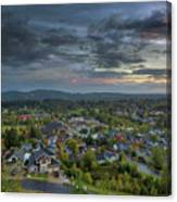 Happy Valley Residential Neighborhood During Sunset Canvas Print