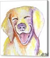 Happy Yellow Dog Canvas Print