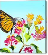 Happy Butterfly Canvas Print
