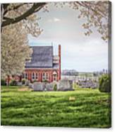 Harbaugh Church In The Spring Canvas Print
