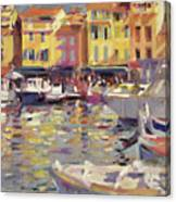Harbor At Cassis Canvas Print