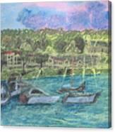Harbor At Halesite Canvas Print