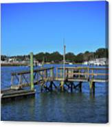 Harbor At Mcclellanville, Sc Canvas Print