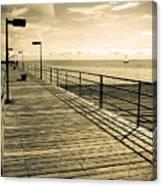 Harbor Beach Michigan Boardwalk Canvas Print