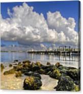 Harbor Clouds At Boynton Beach Inlet Canvas Print