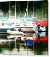 Harbor Masts Canvas Print