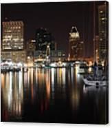 Harbor Nights - Baltimore Skyline Canvas Print