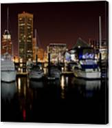 Harbor Nights - Trade Center In Focus Canvas Print