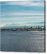 Harbor Panorama  Canvas Print