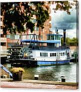 Harbor Park Ferry 5 Canvas Print