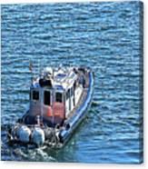 Harbor Police Patrol Boat Canvas Print