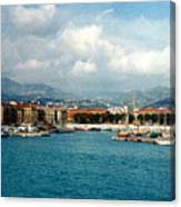 Harbor Scene In Nice France Canvas Print