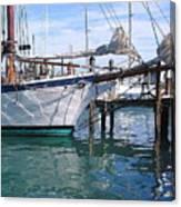 Harbor Scene Key West Canvas Print