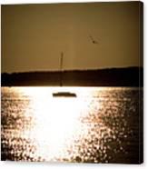 Harbor Silhouette Canvas Print