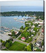 Harbor Springs From Above Canvas Print
