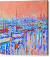 Harbor Sunrise  Eight Am Canvas Print