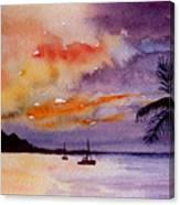 Harbor Sunset Kauai Hawaii Canvas Print