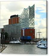 Harbor View With Elbphilharmonie Canvas Print