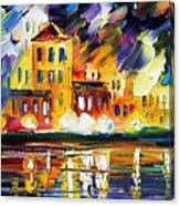 Harbor's Flames Canvas Print