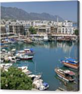 Harbour At Kyrenia Canvas Print