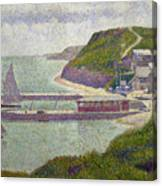 Harbour At Port En Bessin At High Tide Canvas Print