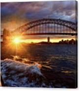Harbour Bridge Sunset By Kaye Menner Canvas Print