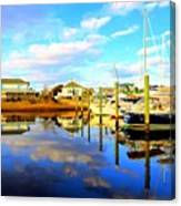 Harbour Reflections Canvas Print