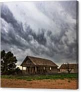 Hard Days - Abandoned Home On West Texas Plains Canvas Print