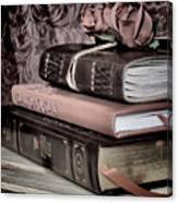 Hardcover Books Canvas Print