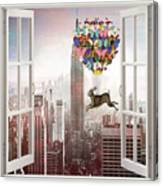 Hare In Nyc Canvas Print
