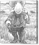 Harecowboy Canvas Print