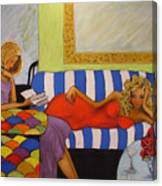 Harlequin Divas Canvas Print
