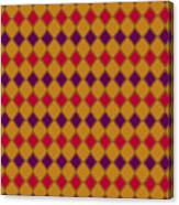 Harlequin Gold Purple Coral Canvas Print