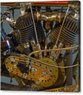 Harley 1918 Cycle Engine Canvas Print