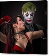 Harley And The Joker Canvas Print