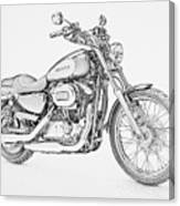 Harley Davidson 1200 Custom Canvas Print