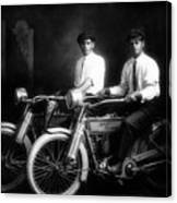William Harley And Arthur Davidson, 1914 -- The Founders Of Harley Davidson Motorcycles Canvas Print