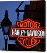 Harley Davidson New Orleans Canvas Print