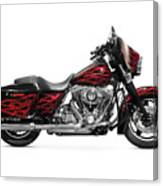 Harley-davidson Street Glide Motorcycle Canvas Print