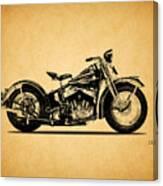Harley Davidson Ulh 1941 Canvas Print
