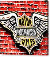Harley Davidson Wings Canvas Print