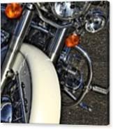 Harley Frontal In White Canvas Print