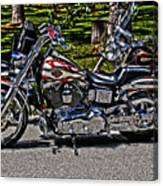 Harley In Hdr Canvas Print