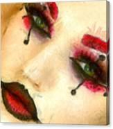 Harley Quinn Face - Da Canvas Print