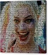 Harley Quinn Quotes Mosaic Canvas Print