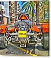 Harley Trike Canvas Print