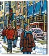 Achetez Les Meilleurs Scenes De Rue Montreal Best Original Art For Sale Montreal Streets Paintings Canvas Print