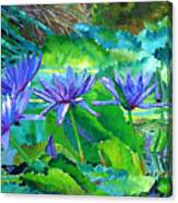 Harmony Of Purple And Green Canvas Print