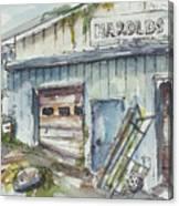 Harold's Welding Canvas Print
